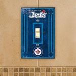 The Memory Company Winnipeg Jets Single Art Glass Light Switch Plate Cover