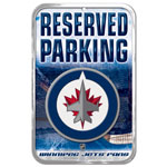 Wincraft Winnipeg Jets Plastic Reserved Parking Sign