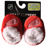 Forever Collectibles Detroit Red Wings Baby Bootie Slippers