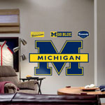 Michigan Wolverines Blue Logo Fathead