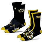 Boston Bruins Men's 2-Pack Team Crew Socks by For Bare Feet