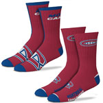Montreal Canadiens Men's 2-Pack Team Crew Socks by For Bare Feet